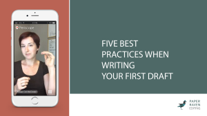 Five best practices when writing your first draft_cover