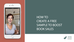 How to create a free sample to boost book sales_cover