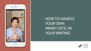 How to handle your own inner critic in your writing_cover