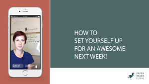 How to set yourself up for an awesome next week_cover