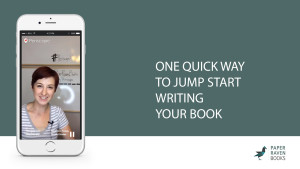 One quick way to jump start writing your book_coverV2