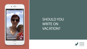 Should you write on vacation_cover