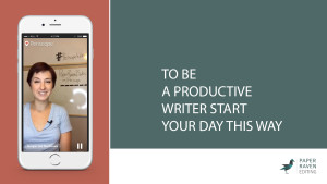 To be a productive writer start your day this way_cover