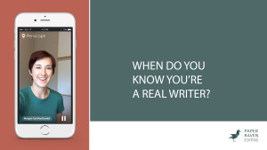 When do you know you're a real writer_cover