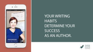 Your writing habits determine your success as an author_cover